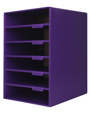 AdirOffice 6-Shelf Organizer for Schools and Offices ADI501-06-BLK-