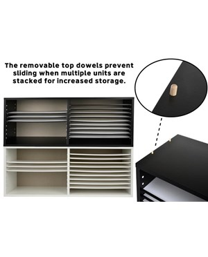 AdirOffice Extra Wide Wood Construction Paper Organizer