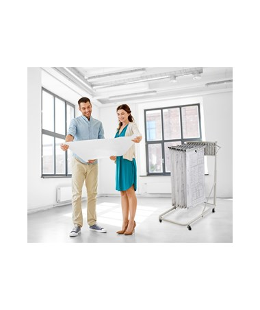 Adir Vertical File Rolling Stand With 12 Brackets ADI613-