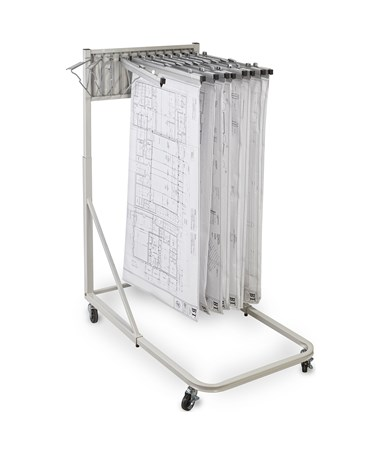 Adir Vertical File Rolling Stand With 12 Brackets ADI613