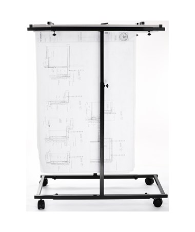 Adir Mobile Vertical Plan Center, Black 614-BLK