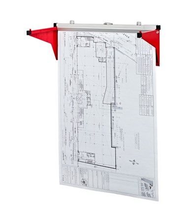 Adir Drop/Lift Wall Rack, Red 616-RED