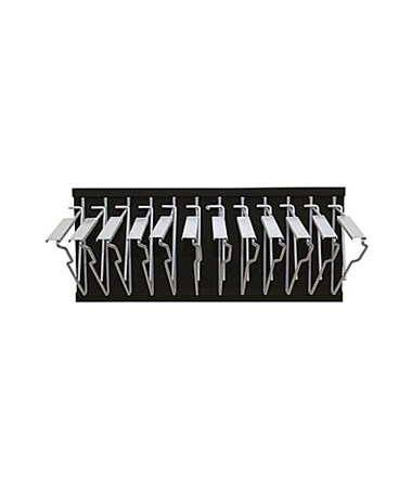 Adir Pivot Wall Rack with Hangers, Black ADI617-BLK