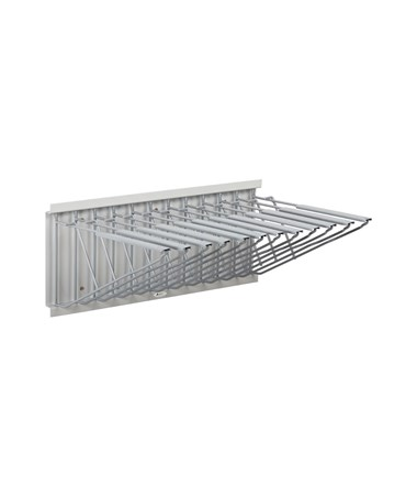 Adir Pivot Wall Rack with Hangers, Bright Grey 617