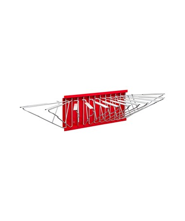 Adir Pivot Wall Rack with Hangers, Red 617-RED