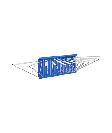 Adir Pivot Wall Rack with Hangers, Blue ADI617-BLU