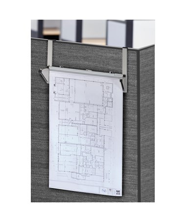 Adir Cubicle Wall Rack, Gray 618-GRY