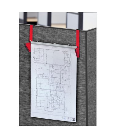 Adir Cubicle Wall Rack, Red 618-RED