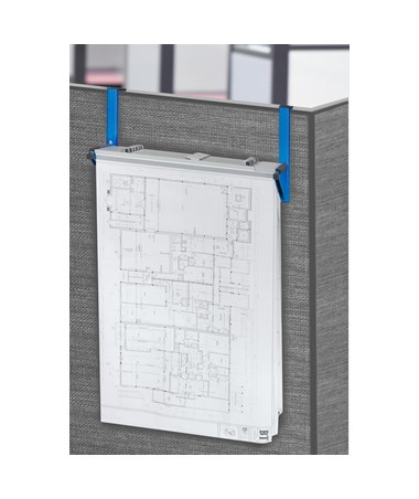 Adir Cubicle Wall Rack, Blue ADI618