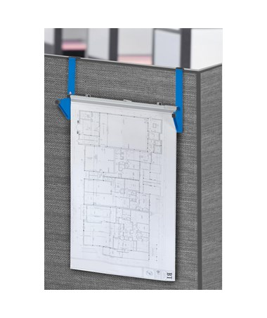 Adir Cubicle Wall Rack, Blue ADI618-BLU