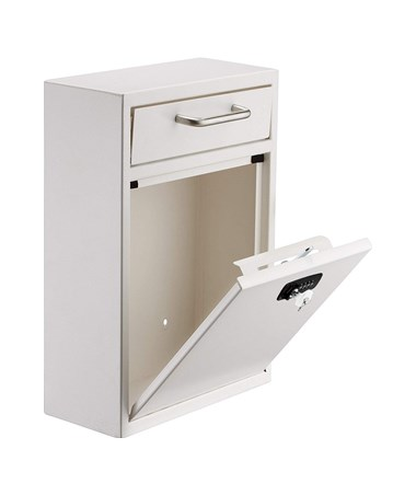 Ultimate Drop Box Wall Mounted Mail Box with Key and Combination Lock