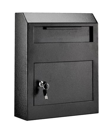 AdirOffice Heavy Duty Secured Drop Box ADI631-07-BLK-