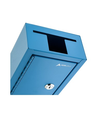 AdirOffice Large Key Drop Box Blue 631-12-BLU