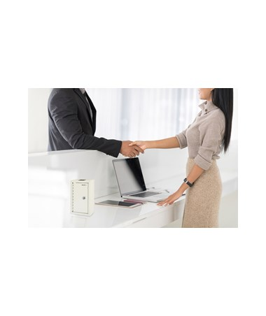 AdirOffice Large Key Drop Box White 631-12-WHI