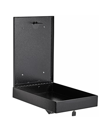 AdirOfffice Wall Mount Drop Box for Secure Document Storage Black 631-14-BLK