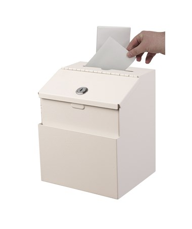 AdirOffice Steel Suggestion Box White