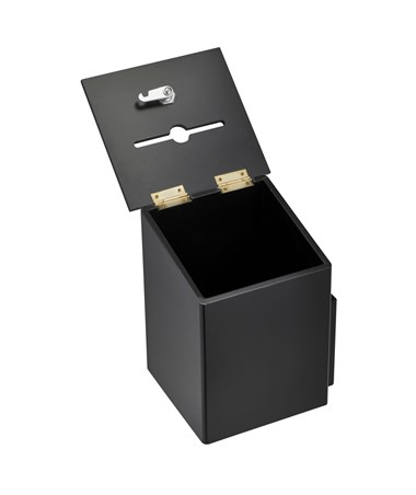 AdirOffice Squared Wood Suggestion Box Black ADI632-01-BLK