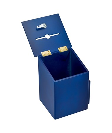 AdirOffice Squared Wood Suggestion Box Blue ADI632-01-BLU
