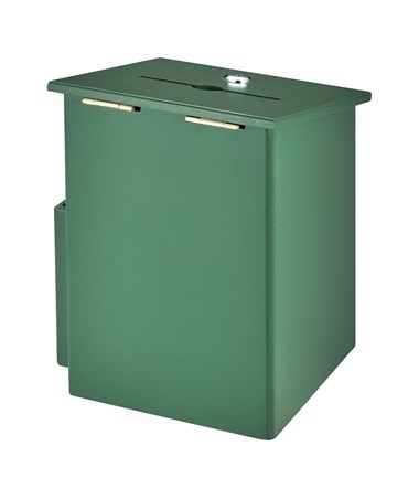 AdirOffice Squared Wood Suggestion Box Green ADI632-01-GRN