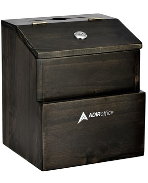 Rustic Suggestion Box with Lock ADI632-02-BLK