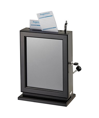 Adir Customizable Wood Suggestion Box - Black 632-BLK