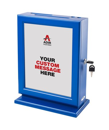 Adir Customizable Wood Suggestion Box - Blue 632-BLU