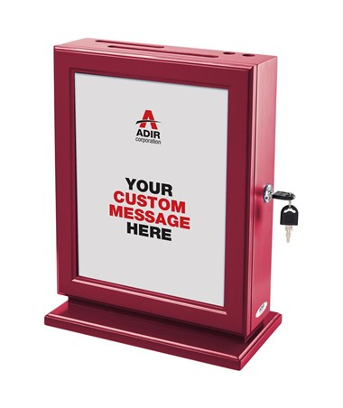 Adir Customizable Wood Suggestion Box - Red 632-RED