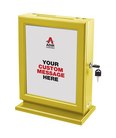 Adir Customizable Wood Suggestion Box - Yellow 632-YEL