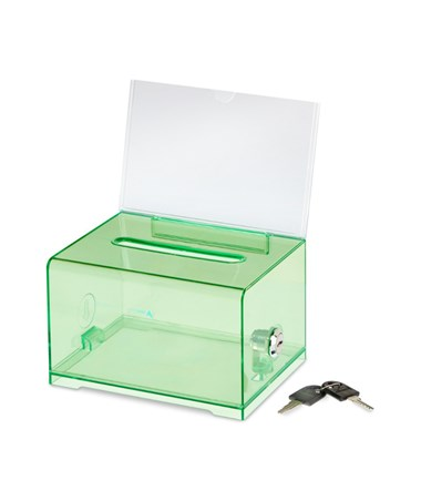 Adir Acrylic Donation & Ballot Box, Crystal Green 637-CRG