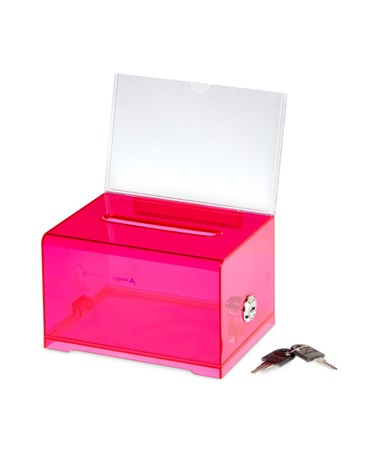 Adir Acrylic Donation & Ballot Box, Crystal Red 637-CRR