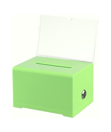 Adir Acrylic Donation & Ballot Box, Green 637-GRN