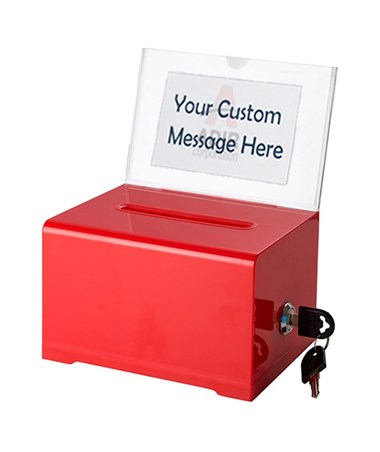 Adir Acrylic Donation & Ballot Box, Red 637-RED