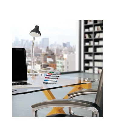 AdirOffice 6-Pen Horizontal Clear Acrylic Premium Pen Display Stand - Pack of 2