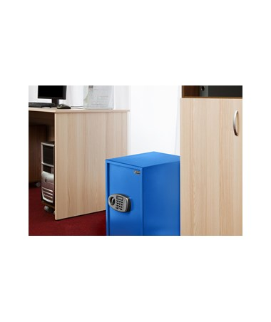 AdirOffice 2.32 Cubic Feet Security Safe with Digital Lock, Blue 670-100-03-BLU