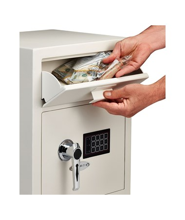 AdirOffice White Digital Depository Safe 670-200-WHI