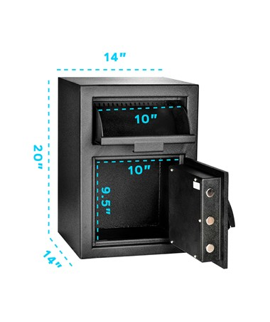 AdirOffice Medium Drop-Box Safe with Digital Keypad Lock 670-201-BLK