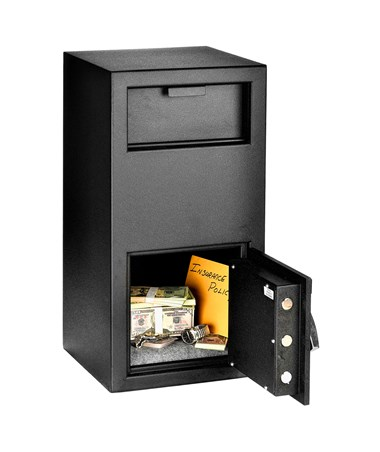 AdirOffice Large Drop-Box Safe with Digital Keypad Lock 670-202-BLK