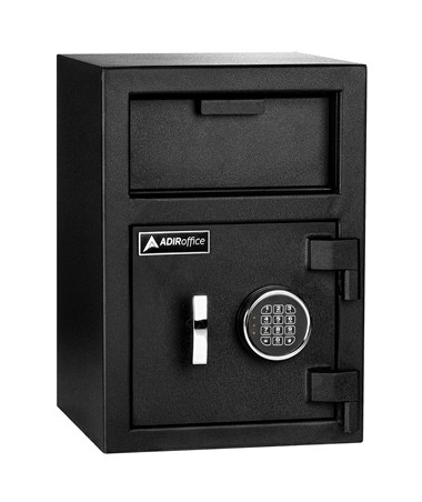 AdirOffice Drop-Box Safe with Digital Keypad Lock ADI670-201-BLK-