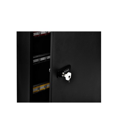 AdirOffice 100-Key Black Storage Cabinet with Combination and Key Lock ADI683-100-BLK