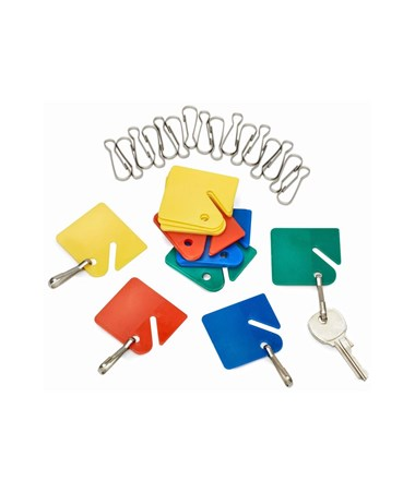 AdirOffice Hanging Key Tags with Snap Hooks ADI689-20-COLORED-