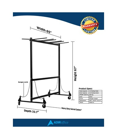 AdirOffice Chair & Table Combo Cart