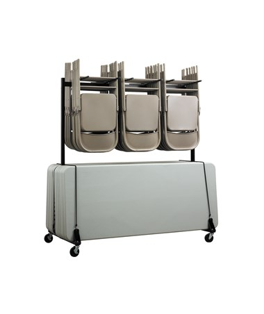 Adir Double Sided 84 Chair and Table Cart ADI690-01