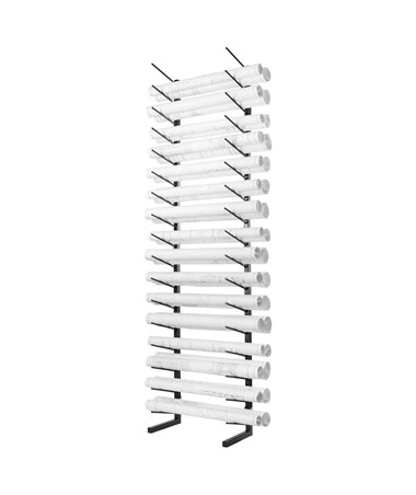 AdirOffice Standing Blueprint Storage Steel Rack ADI692-01-BLK-