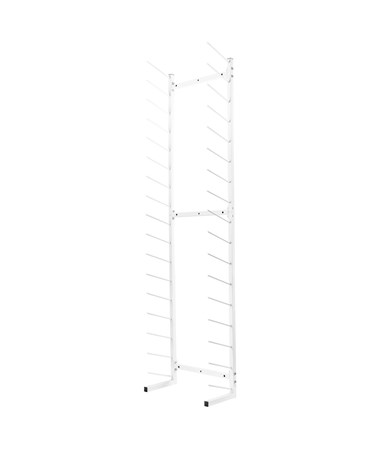 AdirOffice Standing Blueprint Storage Steel Rack ADI692-01-WHI White