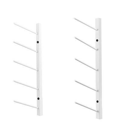 AdirOffice Wall Mount Blueprint 36-Inch White Steel Rack ADI692-36-WHI
