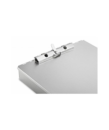 "AdirOffice Aluminum Form Storage Clipboard with Tooth Clamp, 1.5"" Bin Depth ADI694-01"