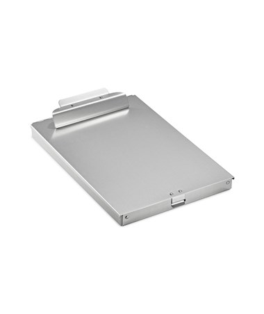 "AdirOffice Aluminum Form Storage Clipboards With Smooth Clamp, 1"" Bin Depth ADI694-02"