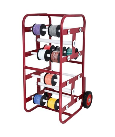 AdirPro Transportable Multiple-Axle Cable Caddy ADI696-01-RED
