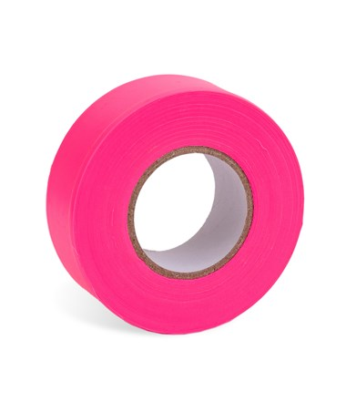 AdirPro 150 ft. Fluorescent Pink Flagging Tape - Pack of 12 719-150-FLP