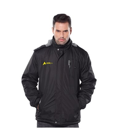 AdirPro Black Hooded Heated Jacket ADI781-BLK